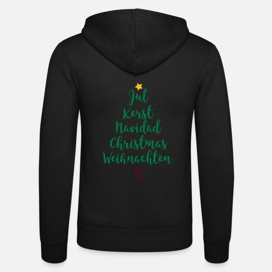 Christmas Hoodies & Sweatshirts - Christmas tree - Unisex Zip Hoodie black