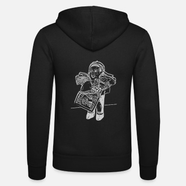 Andes Ekeko lucky charm from the Andes - Unisex Zip Hoodie