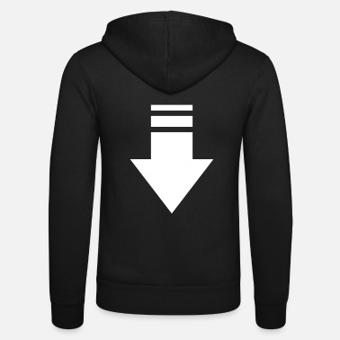 white arrow - Unisex Zip Hoodie