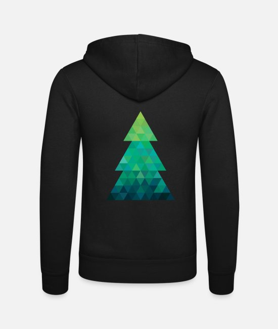Christmas Hoodies & Sweatshirts - Modern style Christmas tree XMAS - Unisex Zip Hoodie black