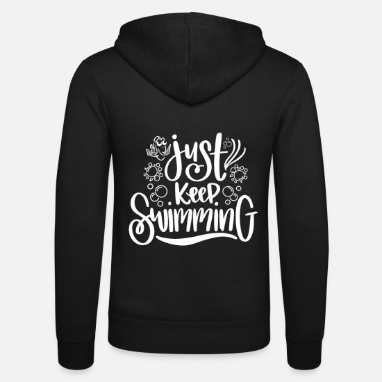 Gift Idea Hoodies & Sweatshirts - swim - Unisex Zip Hoodie black