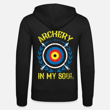Long Bow Archery long bow gift - Unisex Zip Hoodie