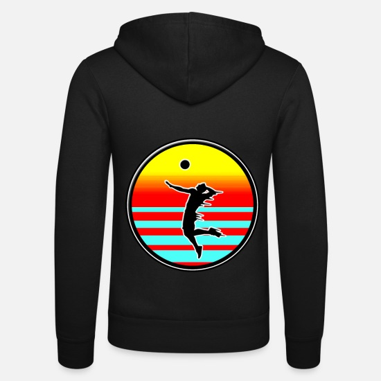 Volleyball Team Hoodies & Sweatshirts - Volleyball style volleyball on the beach - Unisex Zip Hoodie black