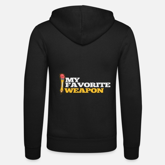 Artist Hoodies & Sweatshirts - Drawing artist painter artist and artist - Unisex Zip Hoodie black
