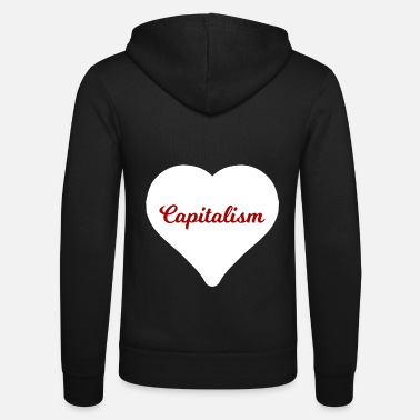 Capitalist A heart for capitalists - Unisex Zip Hoodie
