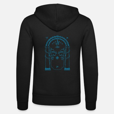Rings The doors of Durin - Unisex Zip Hoodie