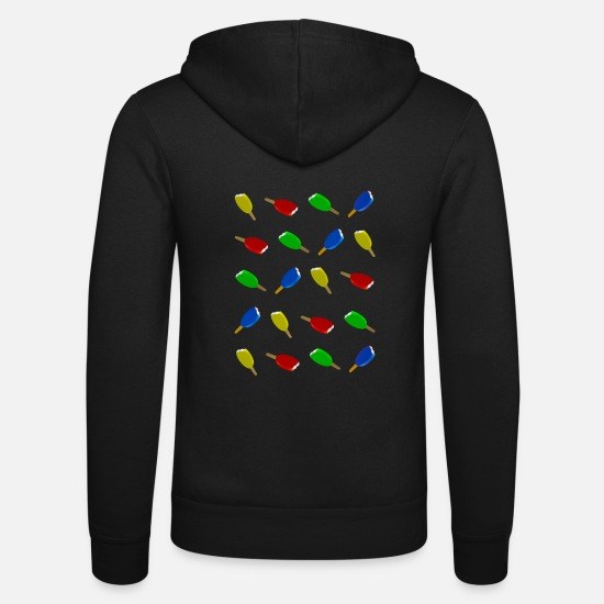 Symbol  Hoodies & Sweatshirts - Ice cream four colors 5 - Unisex Zip Hoodie black