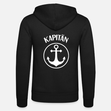 Captain Captain Anchor Captain - Unisex Zip Hoodie