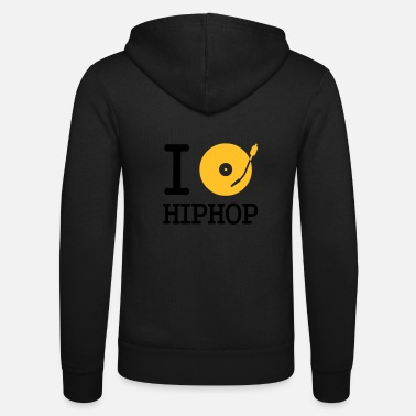 Hip i dj / play / listen to hiphop - Veste à capuche unisexe