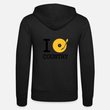 Feest I dj / play / listen to country - Unisex zip hoodie