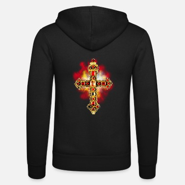 Glamour Cross Cross Glamour Gold Gems - Unisex Zip Hoodie
