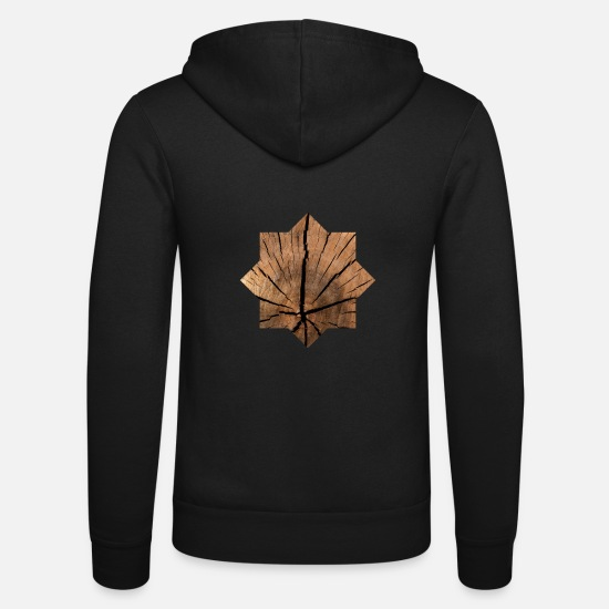 Gift Idea Hoodies & Sweatshirts - Wood octagon pattern - Unisex Zip Hoodie black