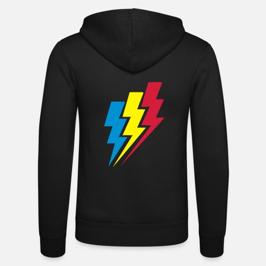 Lightning Hoodies & Sweatshirts - Lightning - Unisex Zip Hoodie black