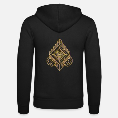 Bodyart GeomTRIBE tattoo KoralDesign - Unisex Zip Hoodie