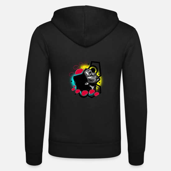 Smudge Hoodies & Sweatshirts - girl1 - Unisex Zip Hoodie black