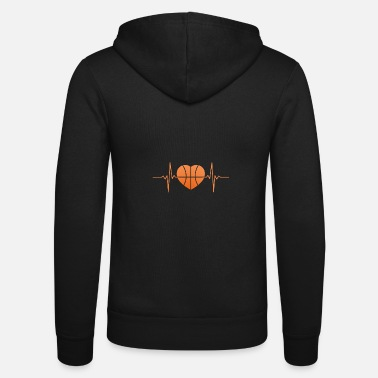 Streetball Basketball Heartbeat Streetball Shirt - Unisex Hooded Jacket by Bella + Canvas