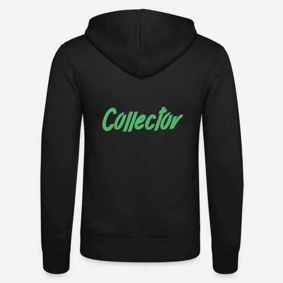 Collection Hoodies & Sweatshirts - Collect Collector Collection Collector Collect - Unisex Zip Hoodie black
