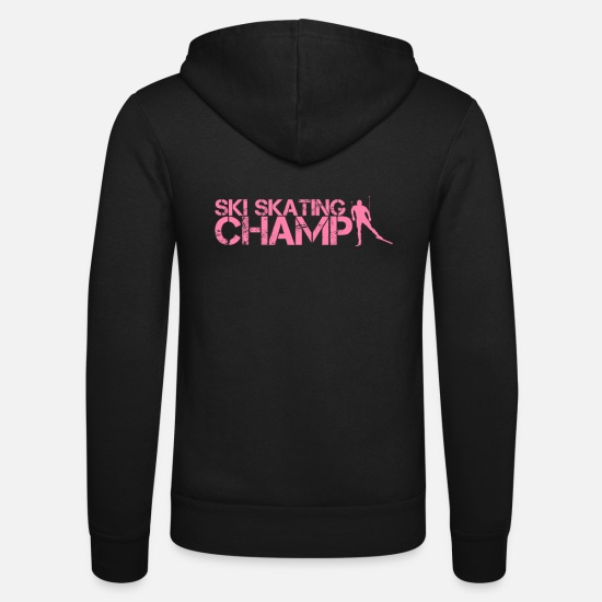 Gift Idea Hoodies & Sweatshirts - Skater cross-country skiing Snow skating Skating Skier - Unisex Zip Hoodie black