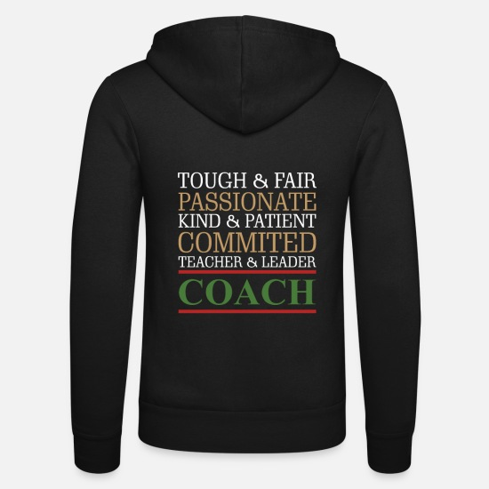 Teacher Puserot ja hupparit - Awesome Coach -lahjat Tough Fair Passionate Teacher - Unisex hupputakki musta