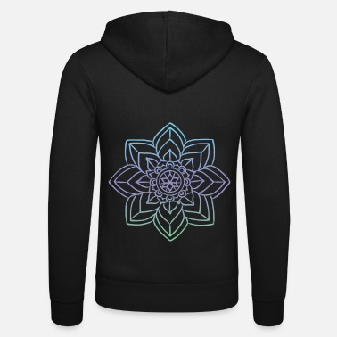 Wedding Day Mandala artwork for art history - Unisex Zip Hoodie