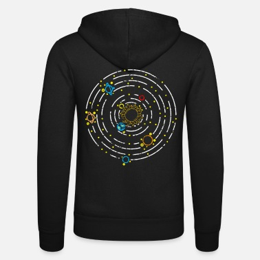 Space Planet solar system - Unisex Zip Hoodie