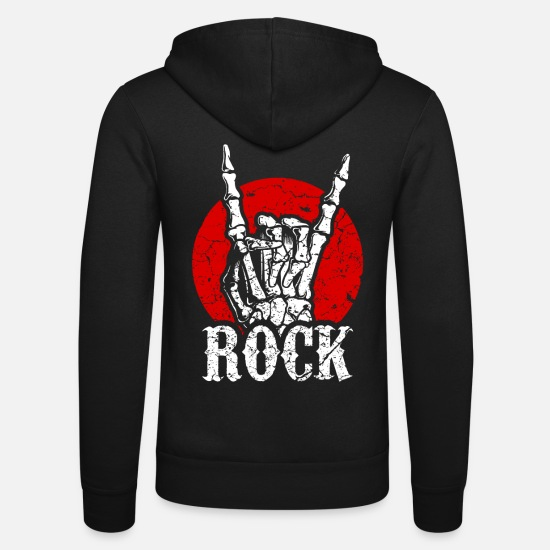 Music Hoodies & Sweatshirts - Rock music - Unisex Zip Hoodie black