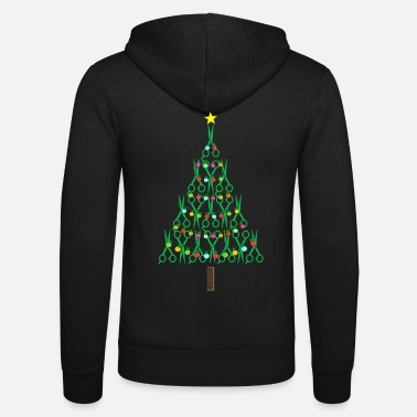 Haircutter Barber Christmas Tree Haircutter Stylist Gift - Unisex Zip Hoodie