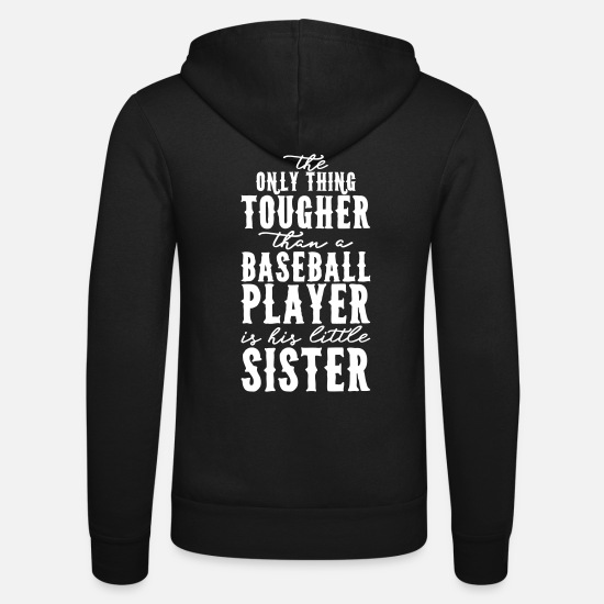 Catcher Hoodies & Sweatshirts - Funny Baseball - baseball player and his sister - Unisex Zip Hoodie black