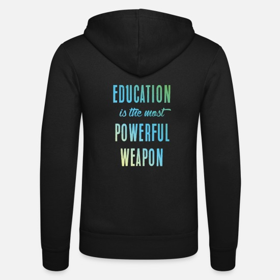 Martial Arts Hoodies & Sweatshirts - Education || education - Unisex Zip Hoodie black