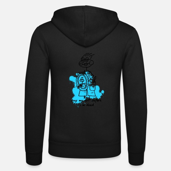 Art Hoodies & Sweatshirts - buy my art before i'm dead blue black - Unisex Zip Hoodie black