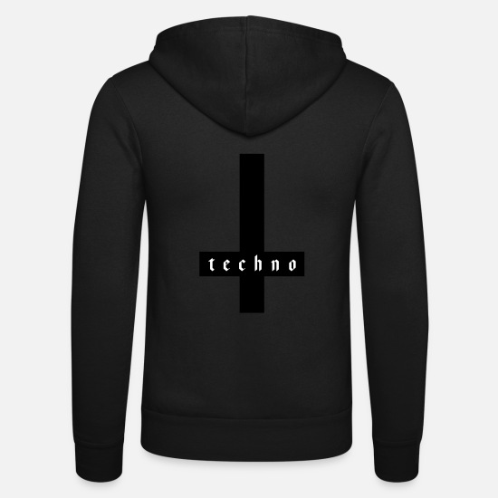 Techno Sweat-shirts - TECHNO - Veste à capuche unisexe noir