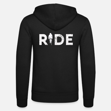 Triathlon Ride mountain bike gift for mountain bikers - Unisex Zip Hoodie