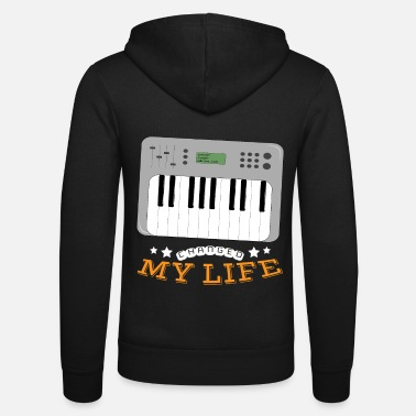 Synthesizer Synthesizer Changed My Life - Unisex Hooded Jacket by Bella + Canvas