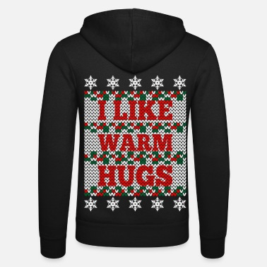 I like warm hugs - Ich mag warme Umarmungen - Unisex Kapuzenjacke von Bella + Canvas
