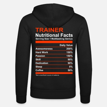 Stylish Nutritional Facts Trainer Tee - Unisex Zip Hoodie
