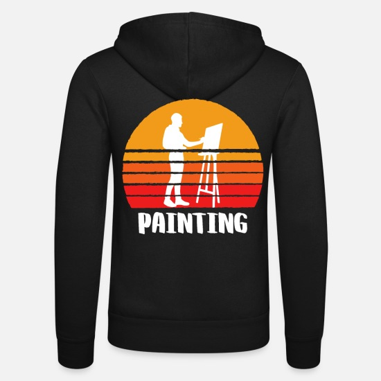 Sports Hoodies & Sweatshirts - Painting Sunset - Unisex Zip Hoodie black