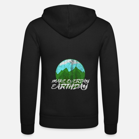 Gift Idea Hoodies & Sweatshirts - Earthday Earth and Conservation - Unisex Zip Hoodie black