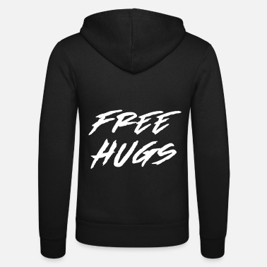 Free free hugs - Unisex Hooded Jacket by Bella + Canvas
