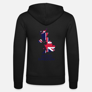 United united kingdom - Felpa con zip unisex