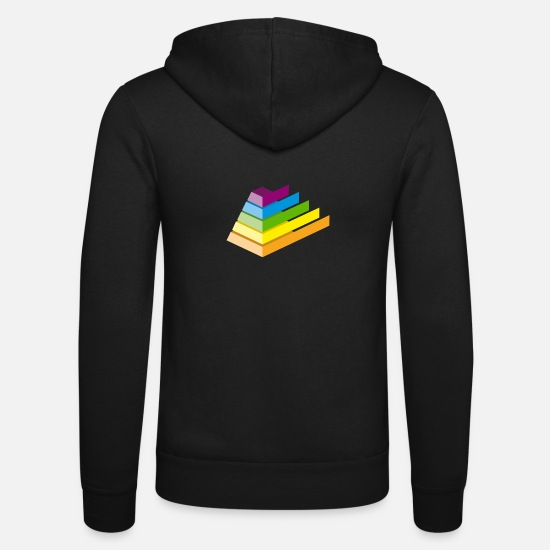 Gift Idea Hoodies & Sweatshirts - pyramid - Unisex Zip Hoodie black