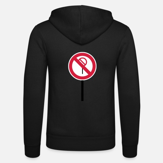 "Red Hoodies & Sweatshirts - Sign ""Prohibitions prohibited"" - Unisex Zip Hoodie black"