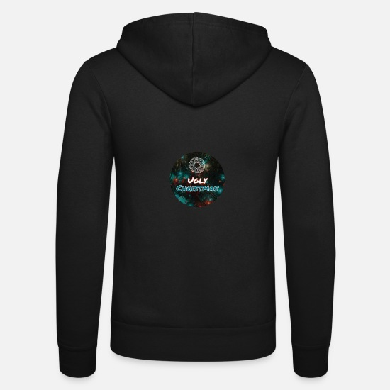 Gift Idea Hoodies & Sweatshirts - Ugly Christmas - Unisex Zip Hoodie black