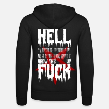 Satanic Hell is just a Lie - Unisex Hooded Jacket by Bella + Canvas