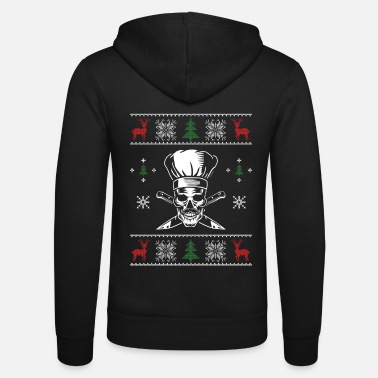 Dietary Cook Ugly Christmas Chef Freaky Skull Chef Christmas - Unisex Zip Hoodie