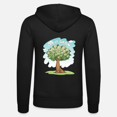 Wall Let It Grow Money Tree Stocks Investor Gift - Unisex Zip Hoodie