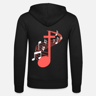 Concert Note Cross Clef Church Choir Choral Music Chorus - Unisex Zip Hoodie