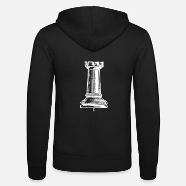 Graphic Art Rook Chesspiece Shakki Pelaaja Distressed Graphic Art - Unisex hupputakki