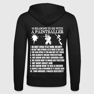 Ball 10 reasons to be with a paintballer - Unisex Kapuzenjacke von Bella + Canvas