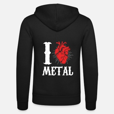 Metal Music I love Metal Music - Unisex Zip Hoodie