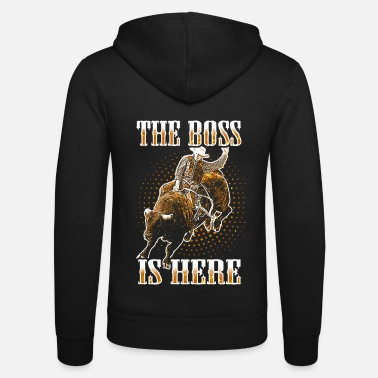 Western Bull Riding Rodeo Western Texas Bullriding USA - Unisex Zip Hoodie